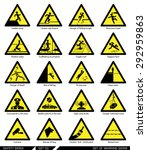 set of safety signs. caution... | Shutterstock .eps vector #292959863