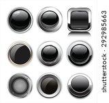 blank black web buttons | Shutterstock .eps vector #292985663