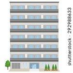 japanese apartment building ... | Shutterstock . vector #292988633