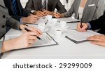 image of business people hands... | Shutterstock . vector #29299009