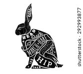 vector hare. march hare. vector ... | Shutterstock .eps vector #292993877