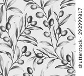 Seamless Olive Bunch Fabric...