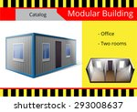 modular building  a series of... | Shutterstock .eps vector #293008637