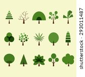 tree icon set | Shutterstock .eps vector #293011487