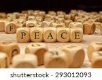 Peace Word Written On Wood Block