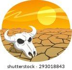 Cow Skull In The Desert At...