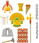 Incas Elements Set Vector...