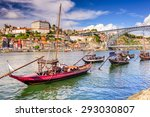 Porto  Portugal On The Douro...