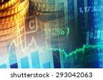 world economics graph. finance... | Shutterstock . vector #293042063