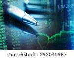 pen and finance data. business... | Shutterstock . vector #293045987
