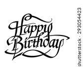happy birthday hand drawn...   Shutterstock .eps vector #293054423