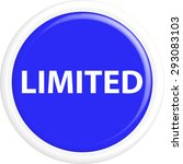 button limited. the round... | Shutterstock .eps vector #293083103