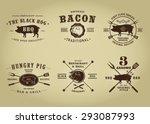 vintage retro pork barbecue bar ...