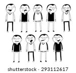 set of cartoon guy with... | Shutterstock .eps vector #293112617