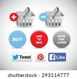 vector shopping icon set | Shutterstock .eps vector #293114777