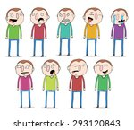set of cartoon character with... | Shutterstock .eps vector #293120843