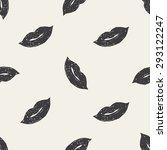 kiss doodle seamless pattern... | Shutterstock . vector #293122247