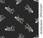 xylophone doodle seamless... | Shutterstock . vector #293124107