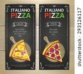 set of pizza menu banners | Shutterstock .eps vector #293126117