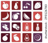 vector set of fruit icons.... | Shutterstock .eps vector #293126783