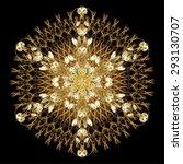 oriental vector pattern with... | Shutterstock .eps vector #293130707