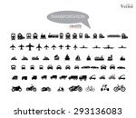 transport icons.transportation .... | Shutterstock .eps vector #293136083