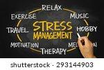 stress management concept... | Shutterstock . vector #293144903