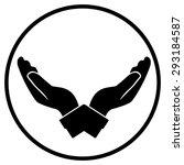 hand protecting logo | Shutterstock .eps vector #293184587