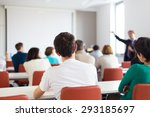 speaker giving a talk at... | Shutterstock . vector #293185697