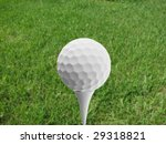 golf ball and grass background | Shutterstock . vector #29318821