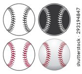 baseballs is an illustration of ... | Shutterstock . vector #293194847