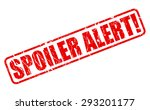 spoiler alert red stamp text on ... | Shutterstock .eps vector #293201177