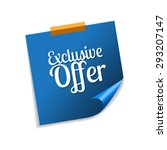 exclusive offer blue sticky... | Shutterstock .eps vector #293207147