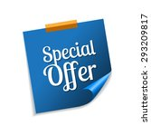 Special Offer Blue Sticky Note...