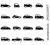 cars icons set illustration | Shutterstock .eps vector #293210597