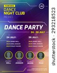 disco party poster background... | Shutterstock .eps vector #293218523