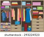 wardrobe room full of woman's...