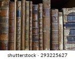 Bookshelf With Row Of Antique...