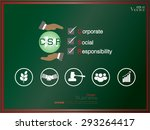 corporate social responsibility.... | Shutterstock .eps vector #293264417