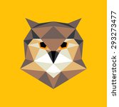 owl portrait. abstract low poly ... | Shutterstock .eps vector #293273477