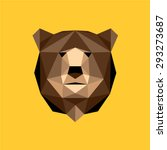 brown bear portrait. abstract... | Shutterstock .eps vector #293273687