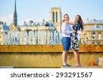 romantic couple having fun... | Shutterstock . vector #293291567
