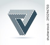vector abstract triangle... | Shutterstock .eps vector #293296703