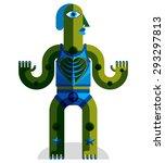 modernistic vector illustration ... | Shutterstock .eps vector #293297813
