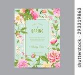 vintage floral frame   for... | Shutterstock .eps vector #293319863