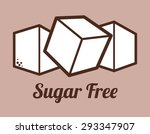 sugar free design over purple... | Shutterstock .eps vector #293347907