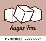 Sugar Free Design Over Purple...