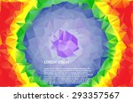 low poly abstract background.... | Shutterstock .eps vector #293357567