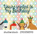 birthday invitation design ... | Shutterstock .eps vector #293358593