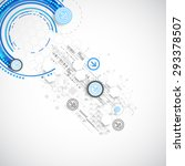 abstract blue business science... | Shutterstock .eps vector #293378507